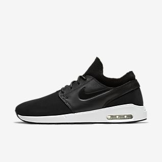 Nike SB Stefan Janoski Max in schwarzem Leder