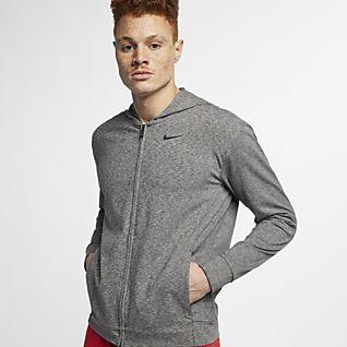 Męska bluza treningowa z kapturem i zamkiem 12 Nike Sphere Szary
