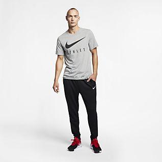 Homem Dri FIT Treino e ginásio Partes de cima e T shirts