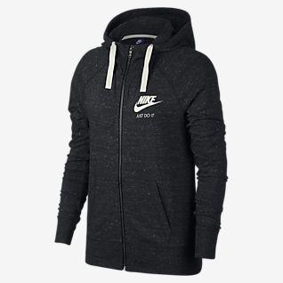 nike hoodie reißverschluss damen grau