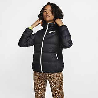 Nike black padded jacket