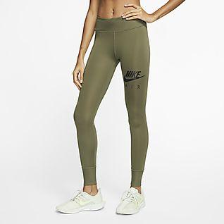 Nike Pro Warm Tight Laufhosen für Damen Grau 100
