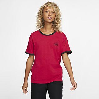 Vor kurzem Shirts NIKE pink grau gelb schwarz weiss
