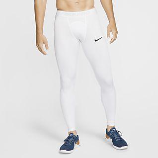 Férfi Fehér Testhezálló nadrágok és leggingsek. Nike HU