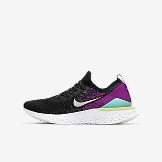 Big Discount Girls Nike Older Free Run Flyknit Grey