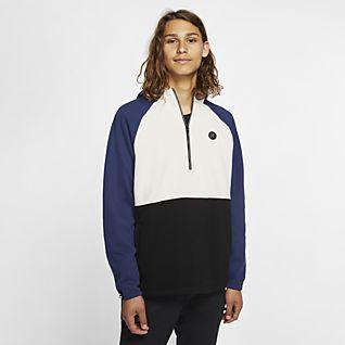 Bleu Sweats à capuche et sweat shirts