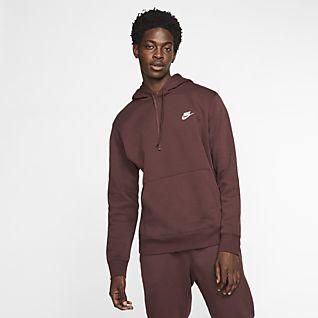 Ideal Nike For Men Green Hoodie Club Fleece Half Zip In