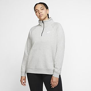 New Women's Nike District 72 LS Long Sleeve Crew Black Gray