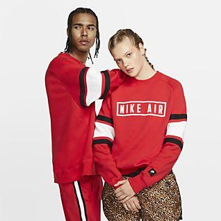 Women's Red Tops & T Shirts. Nike DK