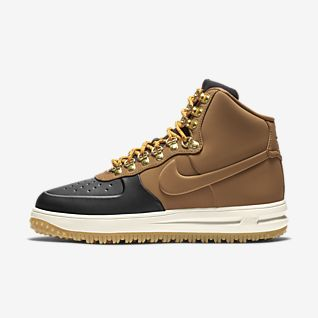 Nike Air Force 1 High Suede Womens Lifestyle Shoes Tawny Gum