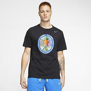 Nike Mens Medium Stripe Mesh Running V Neck T Shirt