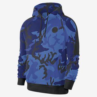 Men's Memphis Grizzlies Nike Light Blue Spotlight Practice Performance Pullover Hoodie