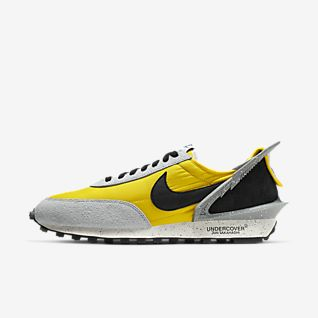 Custom Built Nike Air Max 1 Mens Grey Denim Twill Orange