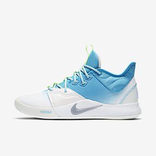 Blue nike women's basketball shoes