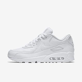 Nike Air MAX 90 Leather, Zapatillas para Hombre, Blanco True