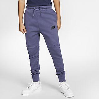 NIKE Boys Black Nike Tech Fleece Pants