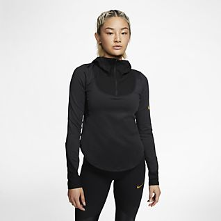 Nike Women's Relay Long Sleeve Running Shirt (Light Purple) Small