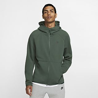 NIKE NIKELAB ESSENTIALS HOODED SWEATSHIRT NAVY MEN CLOTHING