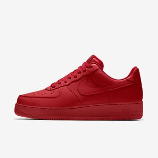 Men's Nike Air Force 1 Low Sneakers Supreme Canvas Maroon