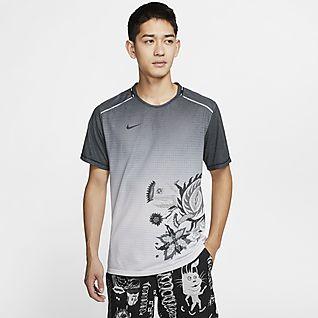 Nike Running Tokyo pack t shirt in gray