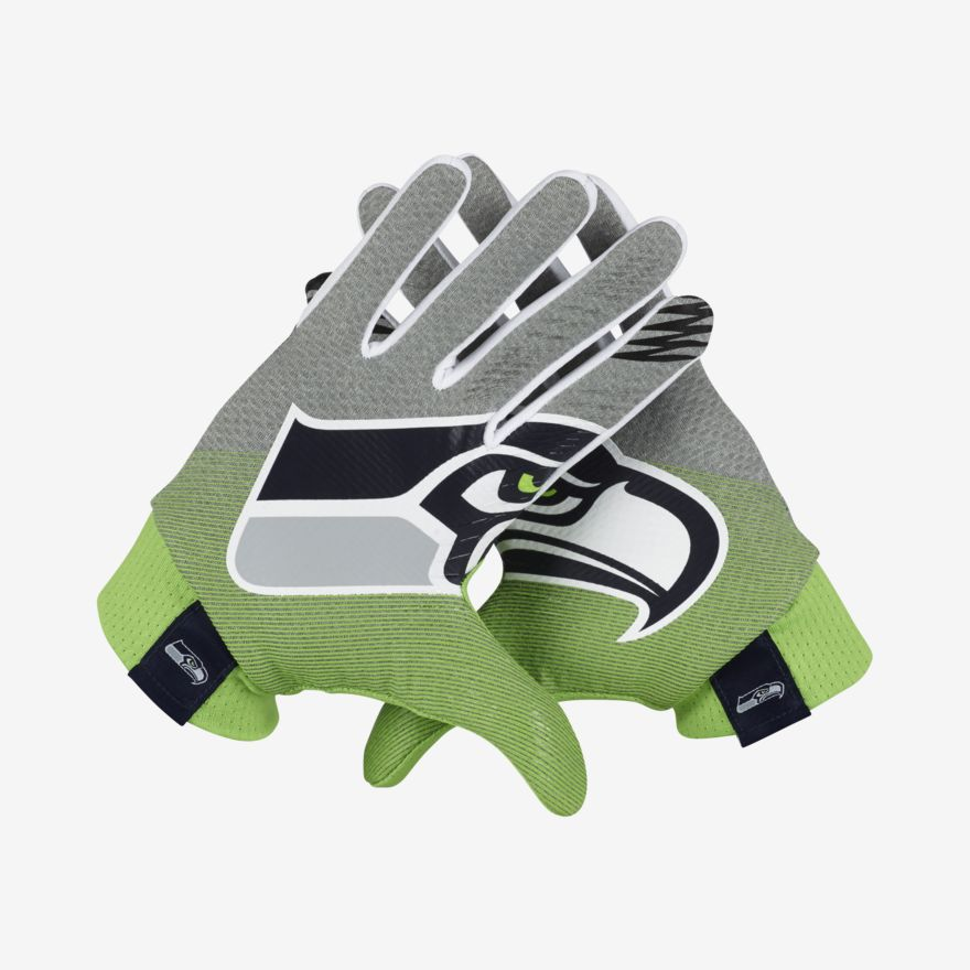 Football Gloves Nike Stadium (NFL Seahawks