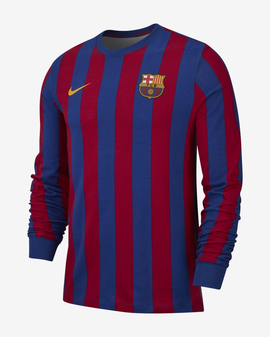 bdd0909ead2 FC Barcelona Men s Long-Sleeve T-Shirt Buy now. Official Nike online store  - shipping worldwide