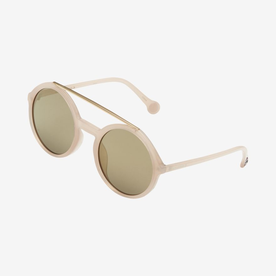 Converse Unisex Double Bar Round Mirrored Sunglasses