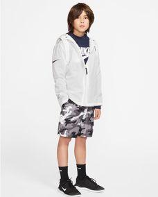 Nike Hbr Hoodie Fz Ft Stmt Hoodies For Kids Black And White, , S