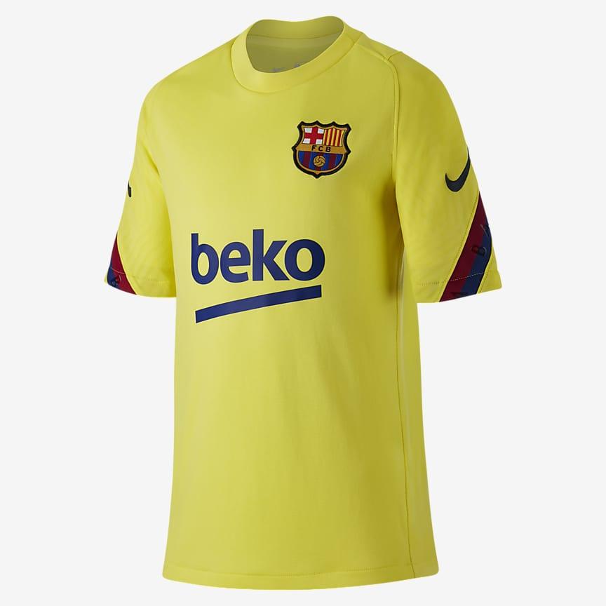 Camiseta de fútbol de manga corta para niños talla grande
