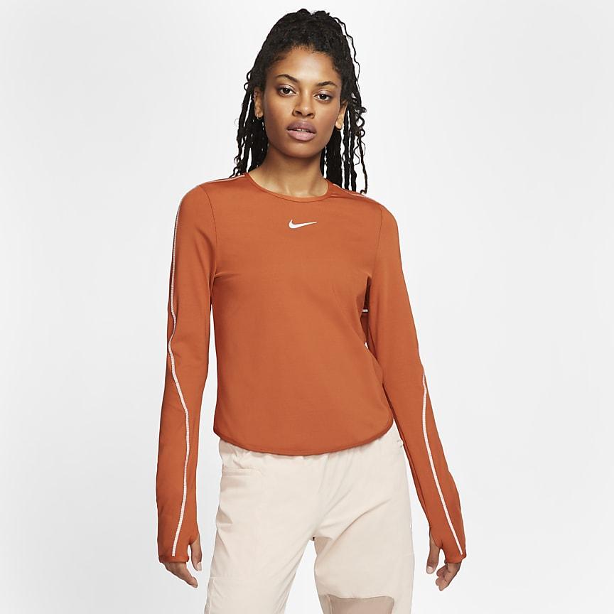 Camisola de running de manga comprida para mulher