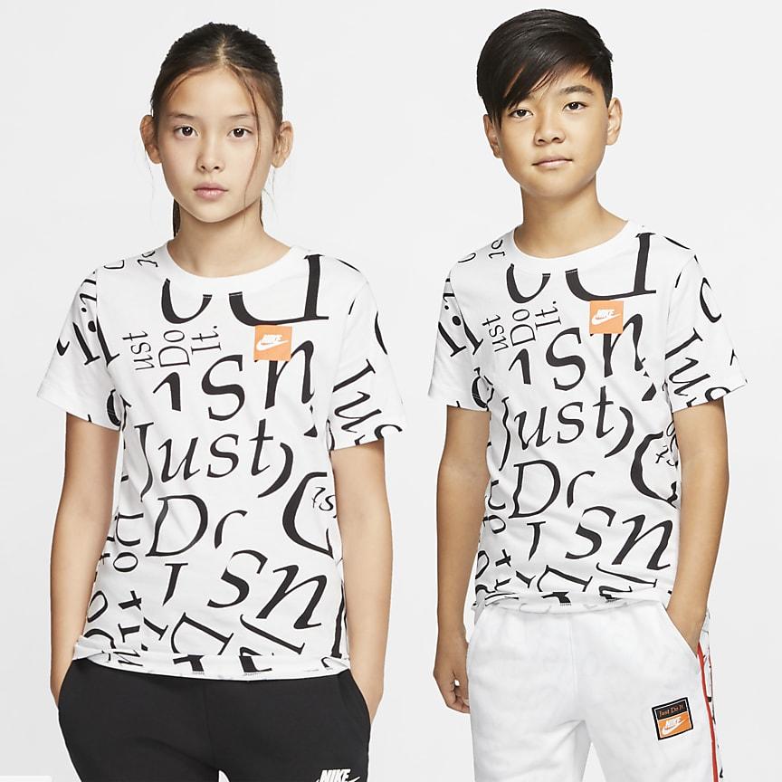 T-shirt med print til store børn