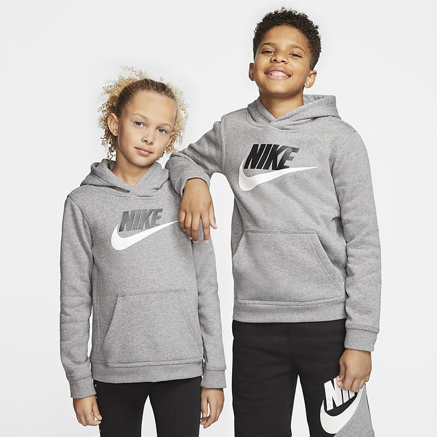 Pullover-hættetrøje til store børn