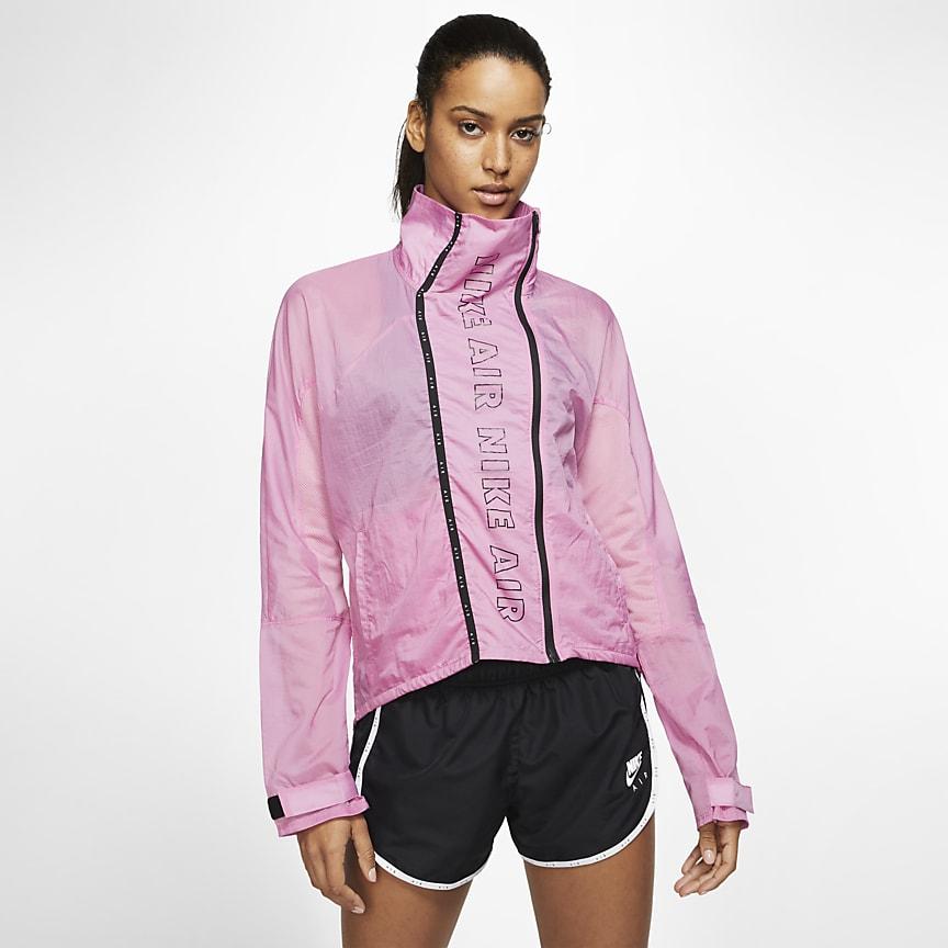 Женская беговая куртка с молнией во всю длину