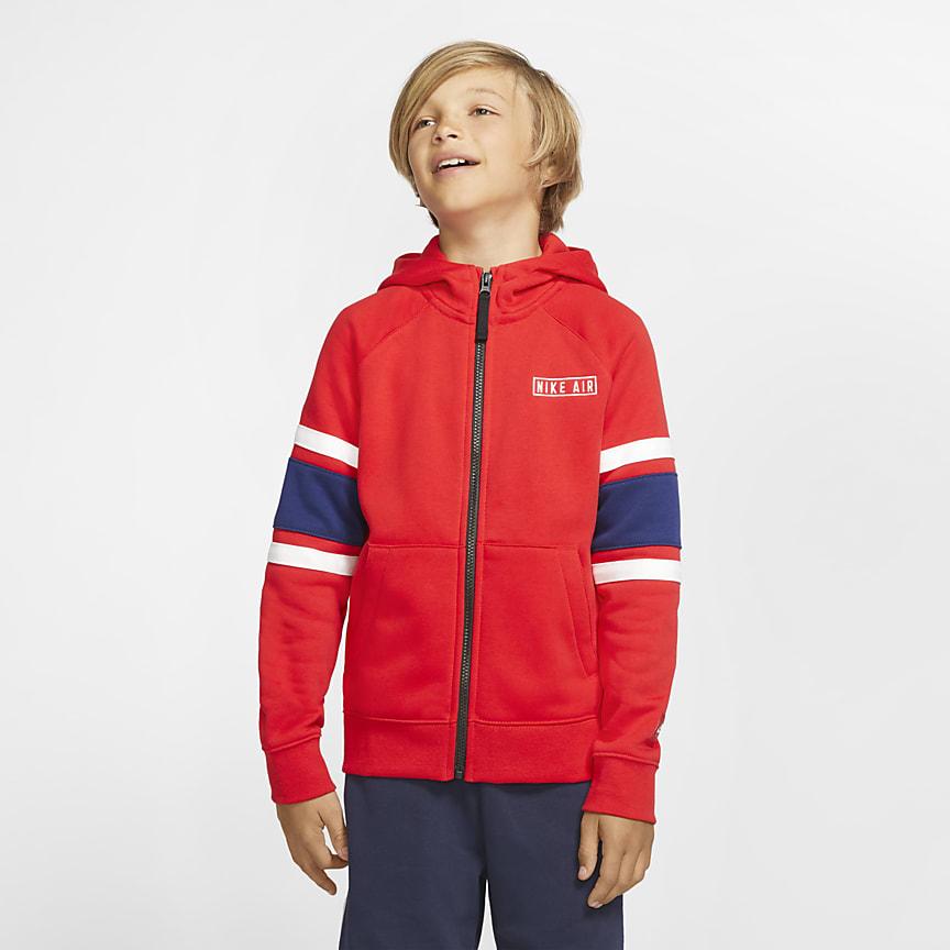 Mikina s kapucí a zipem po celé délce pro větší děti