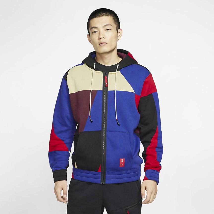 Sudadera con capucha de baloncesto con cremallera completa - Hombre