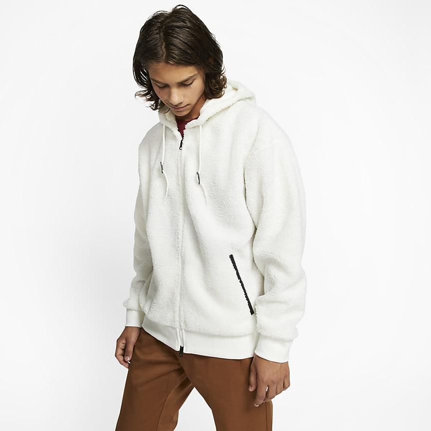 Sudadera con capucha de skateboarding de tejido Sherpa para hombre