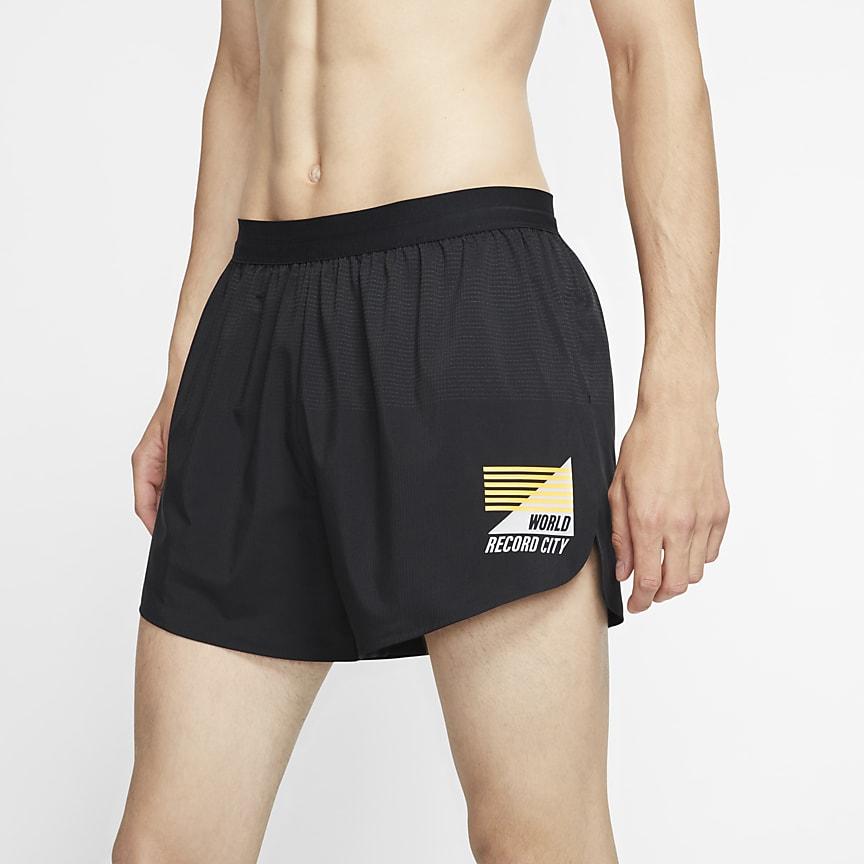 Shorts da running non foderati 10 cm