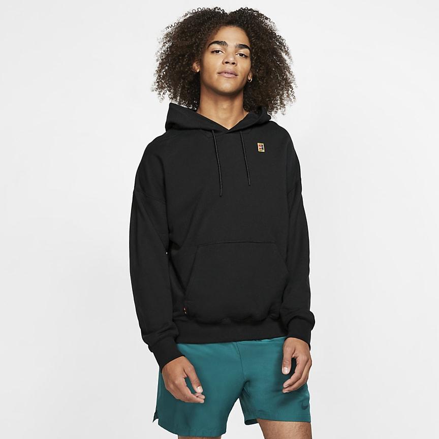 Hoodie de ténis em lã cardada para homem