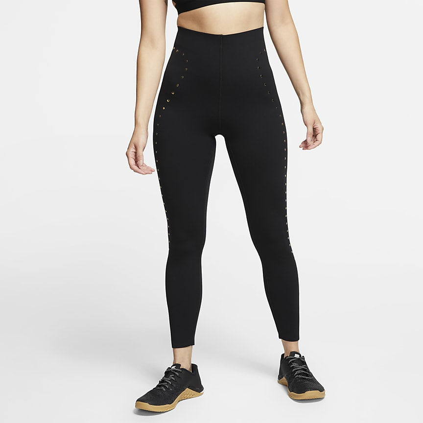 7/8-Trainings-Tights mit Nieten für Damen