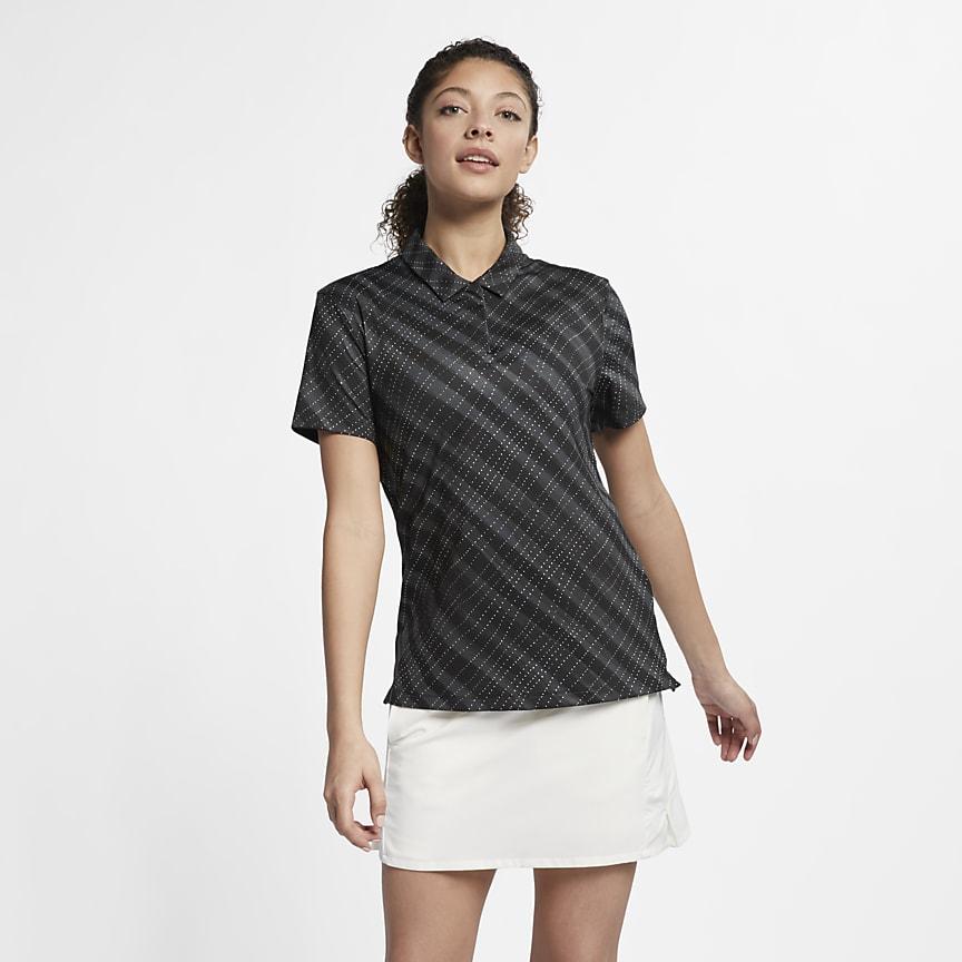 Женская рубашка-поло с принтом для гольфа