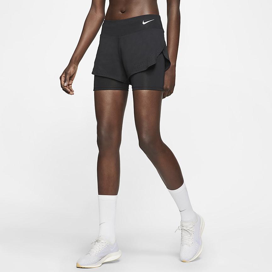 Calções de running 2 em 1 para mulher
