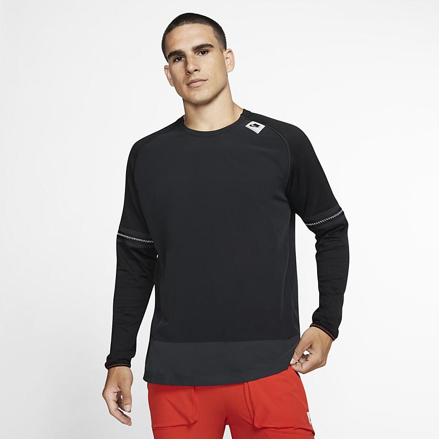 Мужская беговая футболка с длинным рукавом