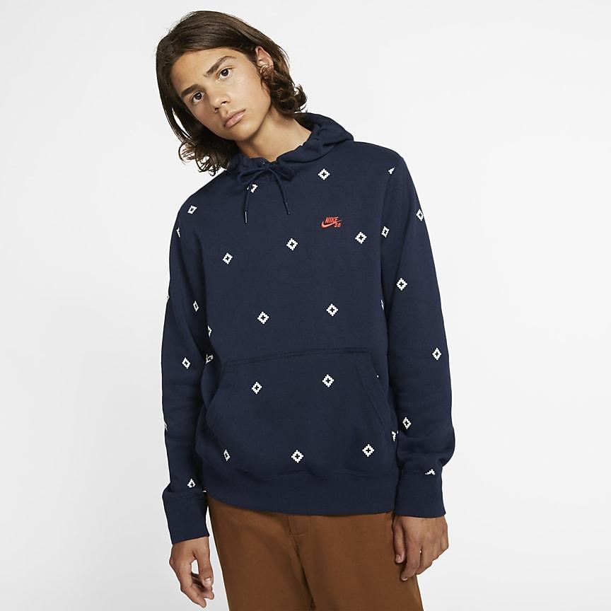 Men's Printed Pullover Skate Hoodie