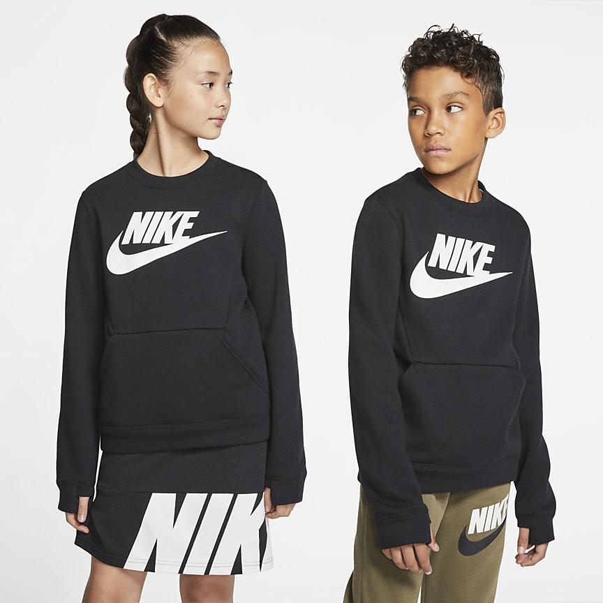 Kerek nyakkivágású pulóver nagyobb gyerekeknek