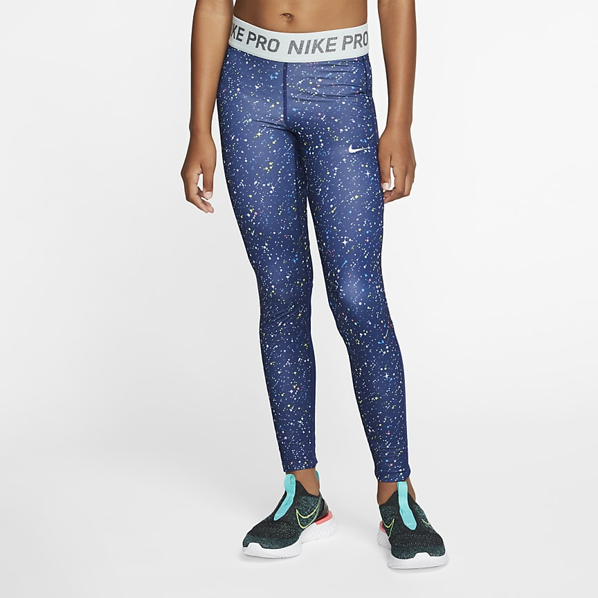 Older Kids' (Girls') Printed Training Tights