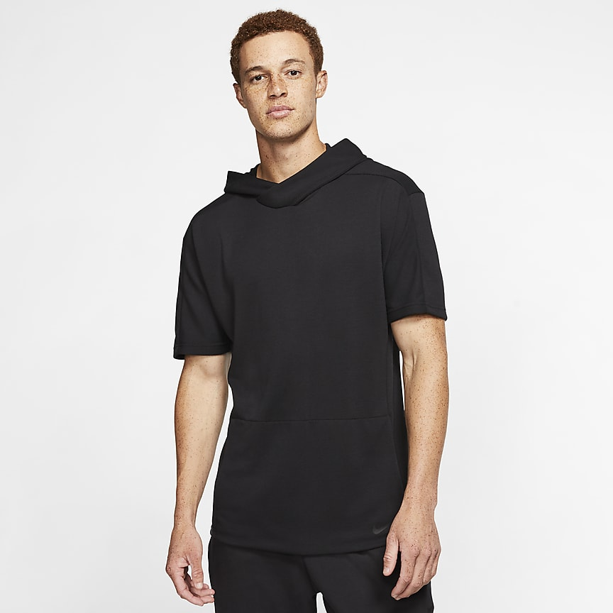 Men's Short-Sleeve Pullover Hoodie