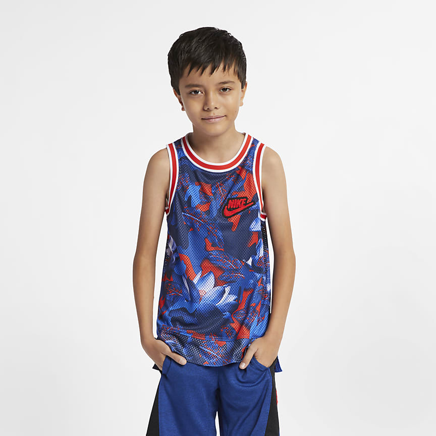 2260d60a788 Boys  Sleeveless Printed Basketball Top