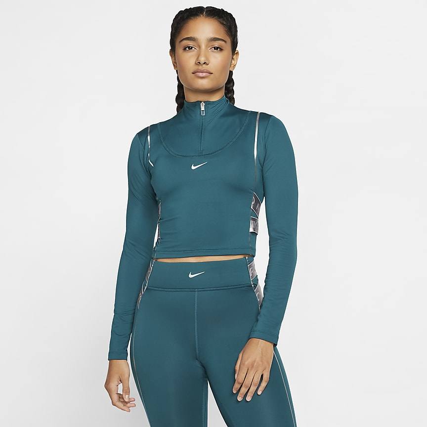 Γυναικεία μακρυμάνικη μπλούζα με φερμουάρ στο μισό μήκος