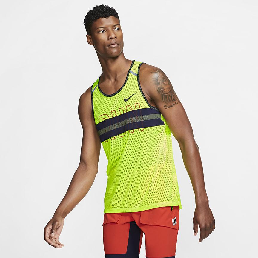 Camiseta de tirantes de running de malla para hombre