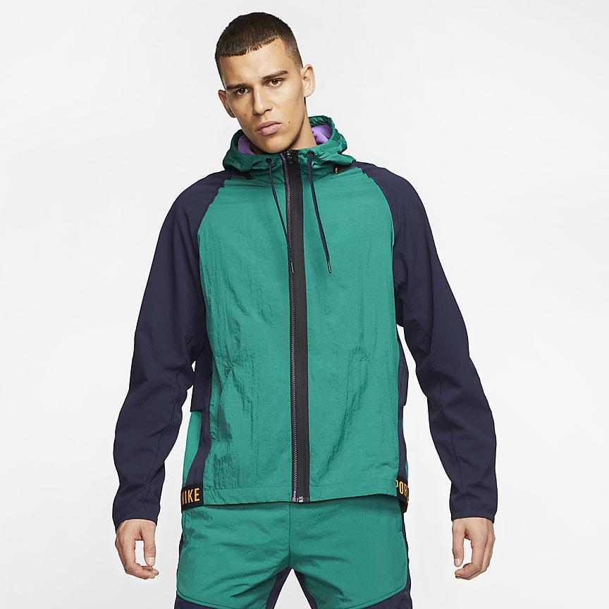 Мужская куртка с молнией во всю длину для тренинга